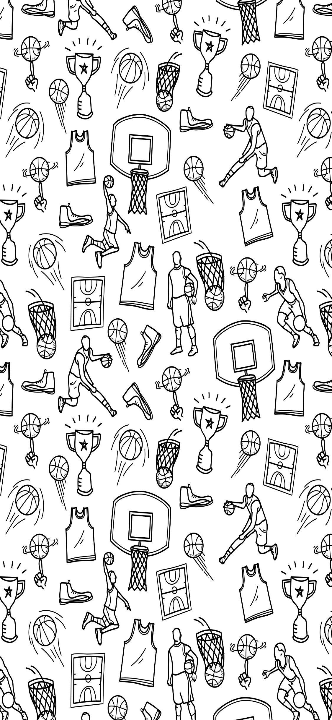 Latest Nba Wallpaper Download Free Hd Wallpapers Background Images In 2020 Basketball Iphone Wallpaper Basketball Doodle Basketball Wallpaper