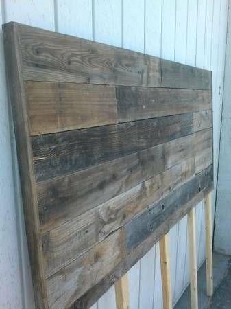 Vintage rustic reclaimed barn wood headboard - $100 ...