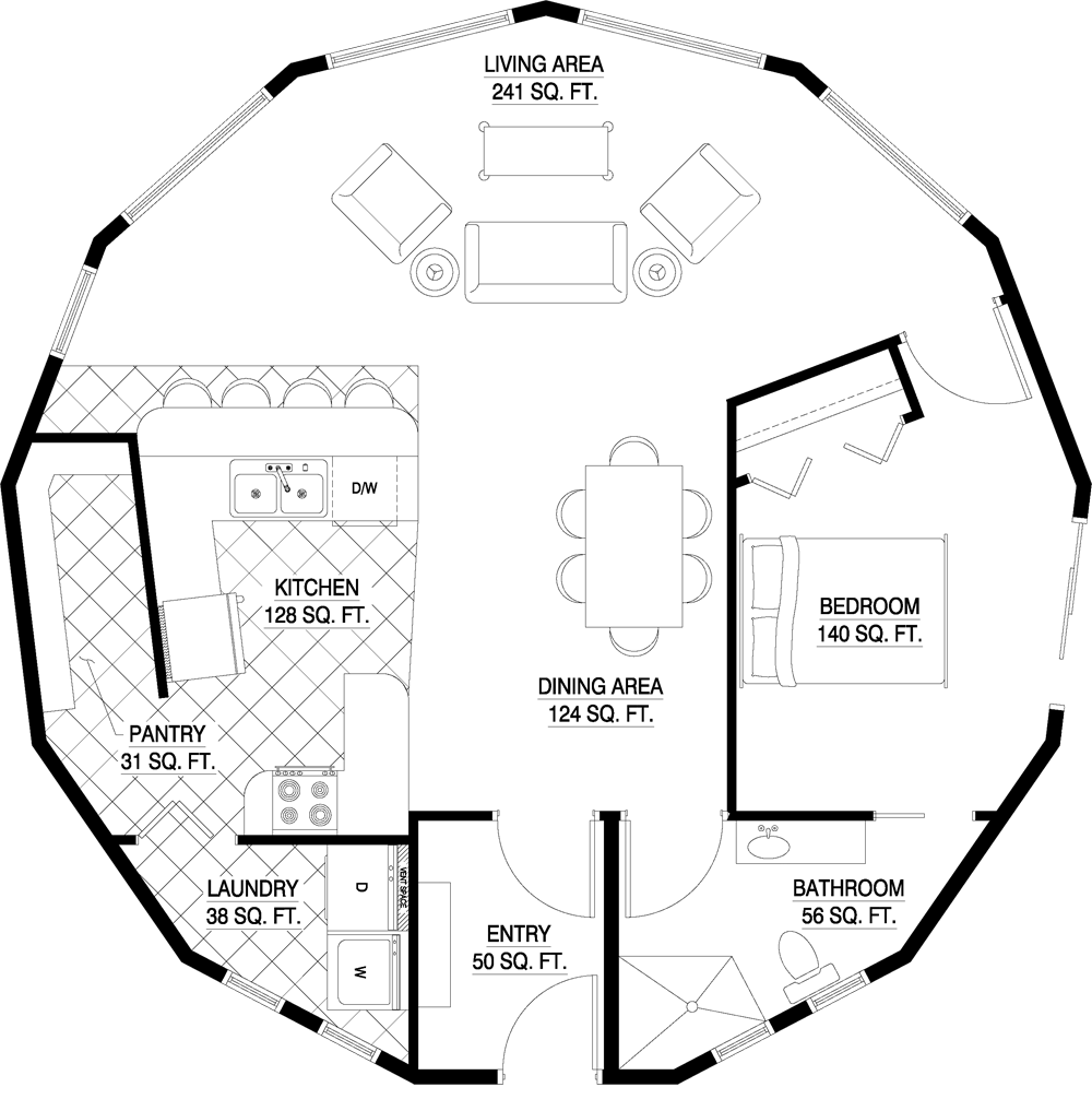 Deltec Homes Floorplan Gallery Round Floorplans Custom Floorplans House Floor Plans Round House Plans Floor Plans