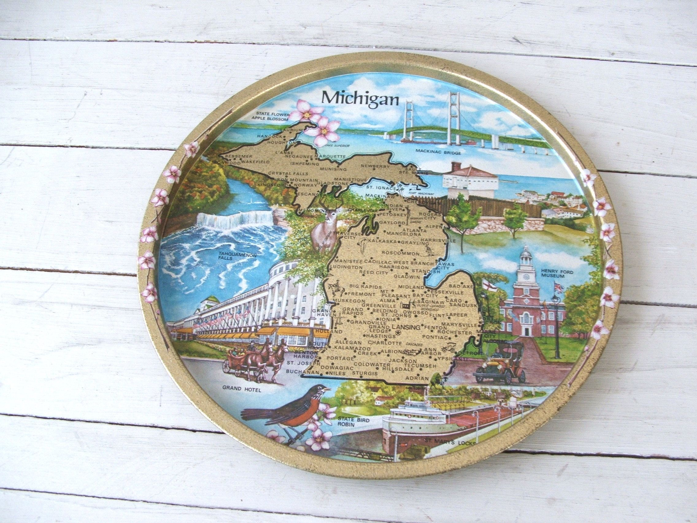 your place to buy and sell all things handmade vintage michigan michigan souvenirs vintage pinterest