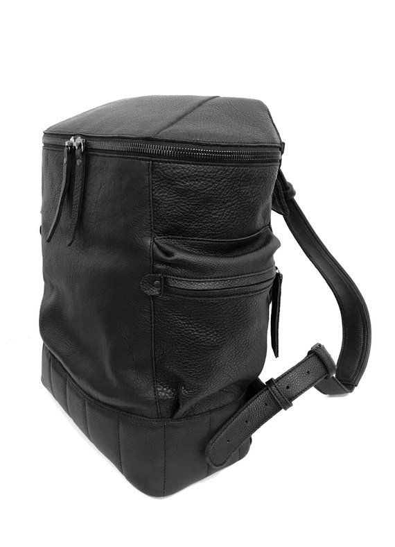 Large black leather backpack Mens backpack Big leather black backpack men  Travel rucksack Laptop bac 865845dbc77d