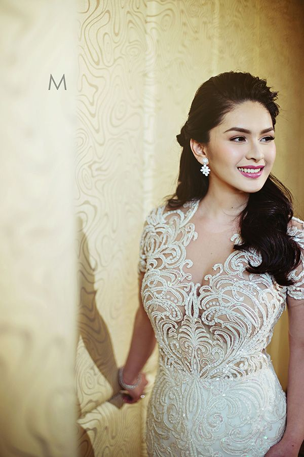 Celebrity Wedding Vic Sotto And Pauleen Luna Francis Libiran Wedding Gown Wedding Gowns Perfect Wedding Dress