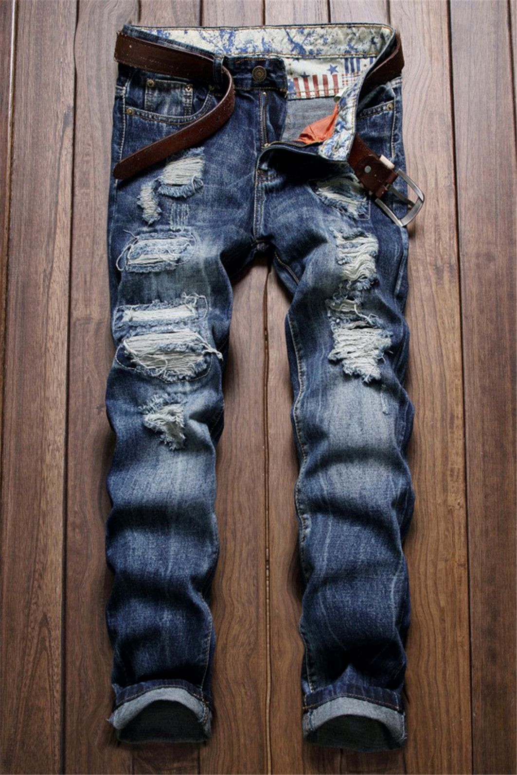 bd134db0c25f5  26.71 Frayed Zipper Fly Scratched Ripped Jeans