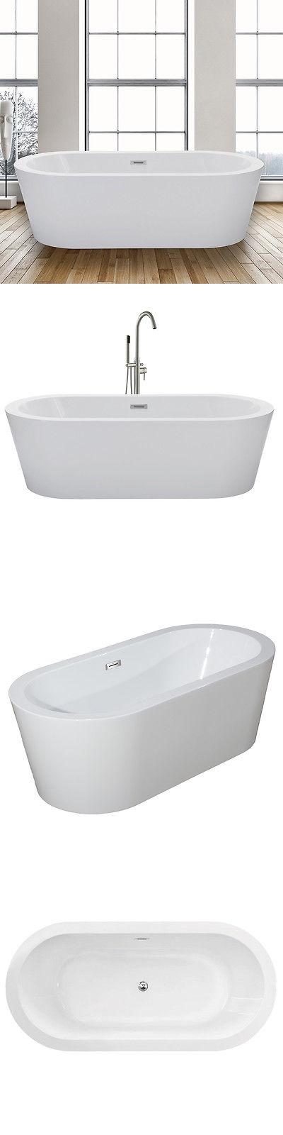 Bathtubs 42025: Woodbridge 67 Freestanding Bathtub B-0002 With ...