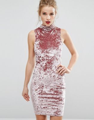 New Look Crushed Velvet Bodycon Dress | Pinterest | Mode und Stil