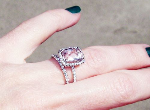 pink diamond engagement rings pink diamond wedding rings photo by maegan tintari - Pink Wedding Rings