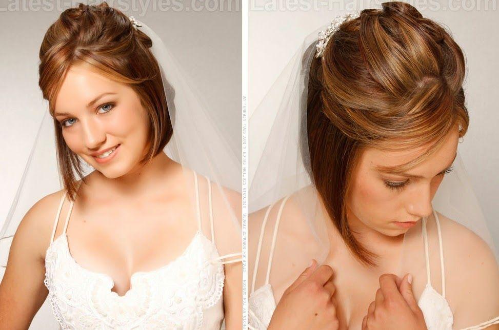 Penteados Para Noivas Cabelos Curtos Hair Cabelo Curto