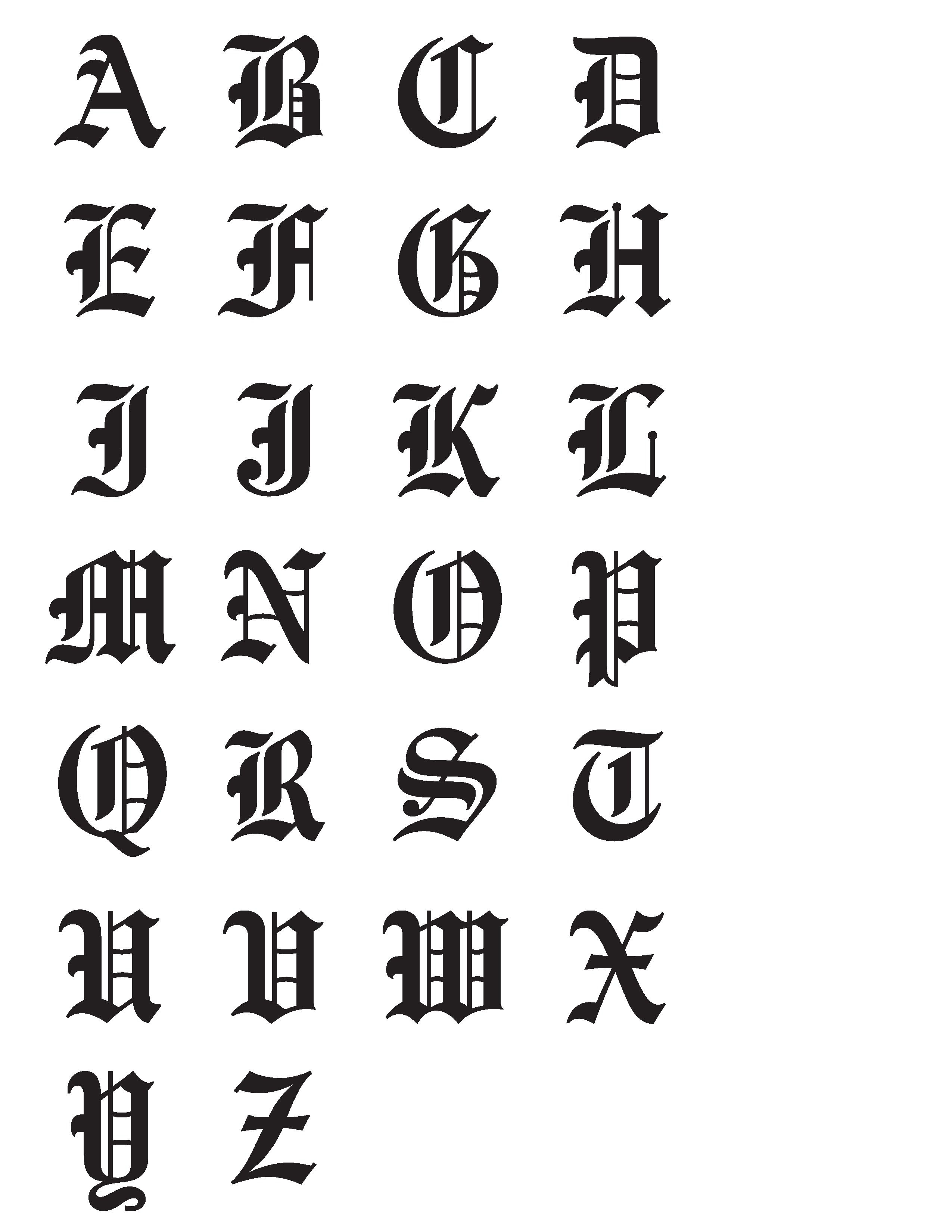 Old English Need To Find A Good Chart For The Lowercase