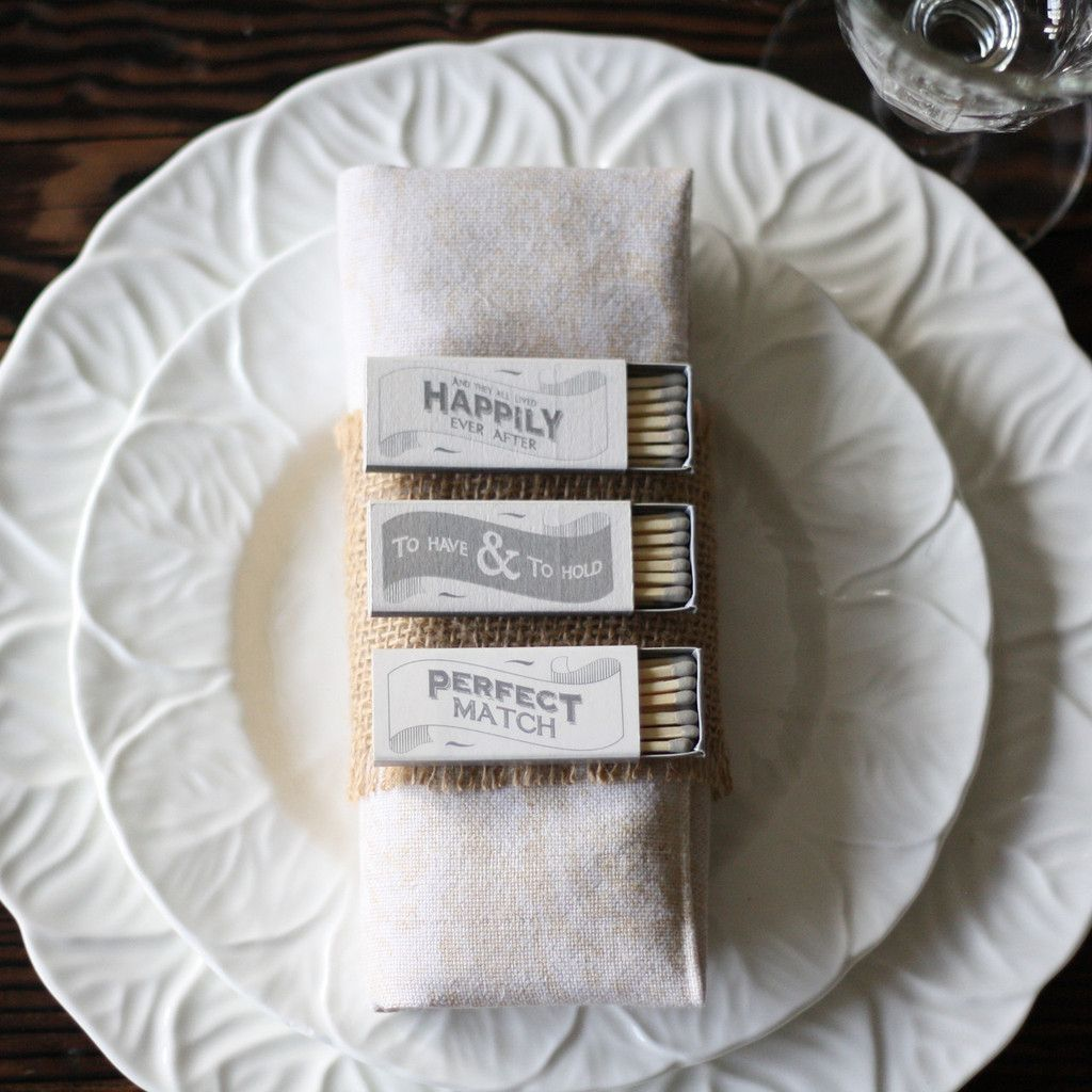 Wedding Favour Box Of Matches | Favors, Box and Weddings
