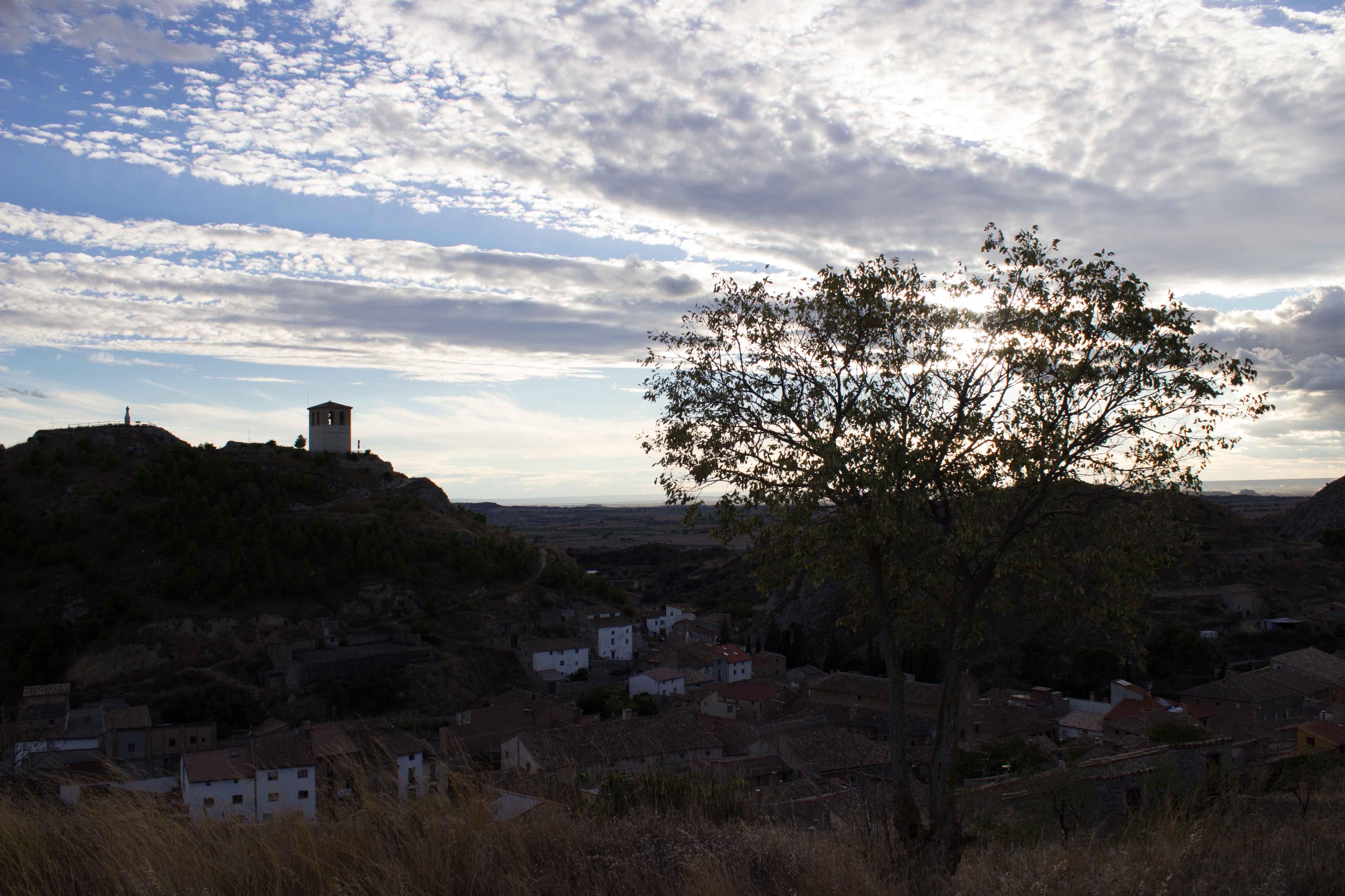 Panorámica del casco urbano. San Esteban de Litera (Huesca), La Litera, Aragón, Spain.