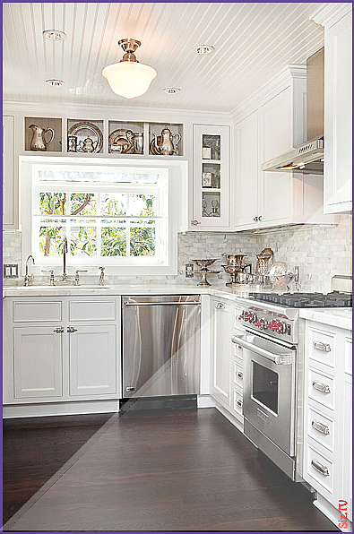 Gorgeous kitchen design with beadboard ceiling schoolhouse ...