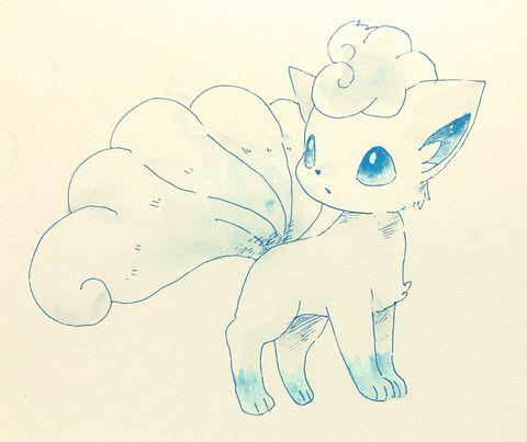 Alolan Vulpix Pokemon Desenho Twitter