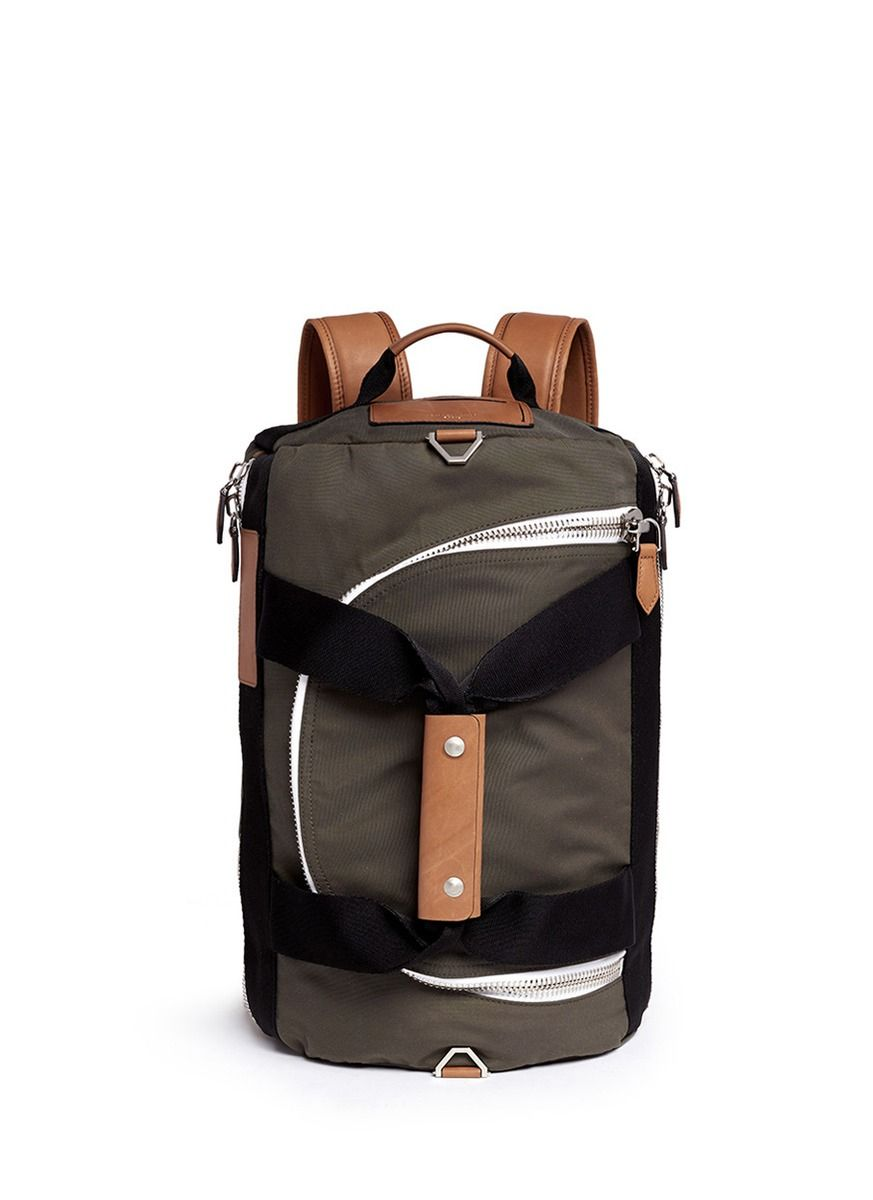 74748dae39f Men's Green '17' Duffle Backpack   HANDBAGS   Green backpacks ...