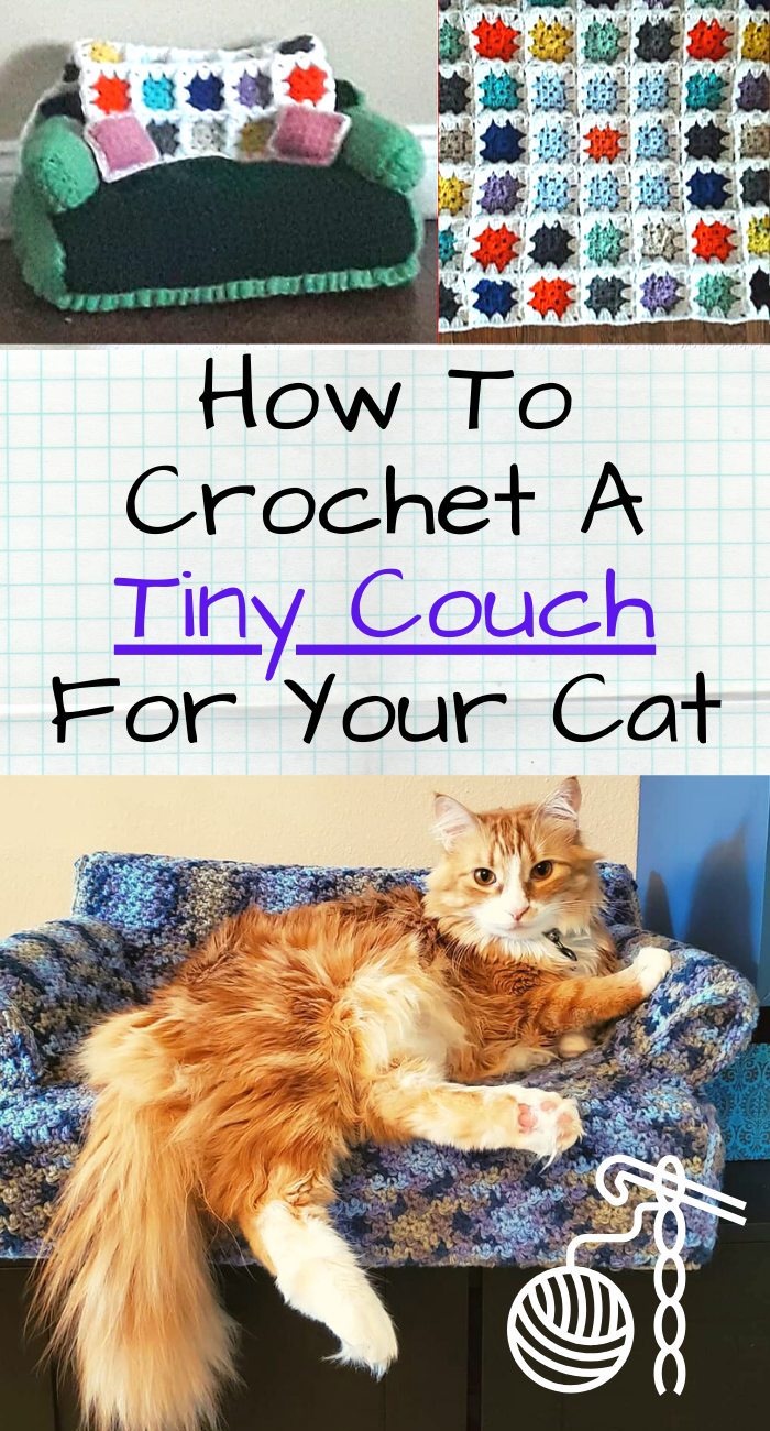Must See Crocheting Communities On Forums Have Started Crocheting Tiny Cat Couches For Their Loveable Kittens In 2020 Cat Couch Crochet Cat Crochet