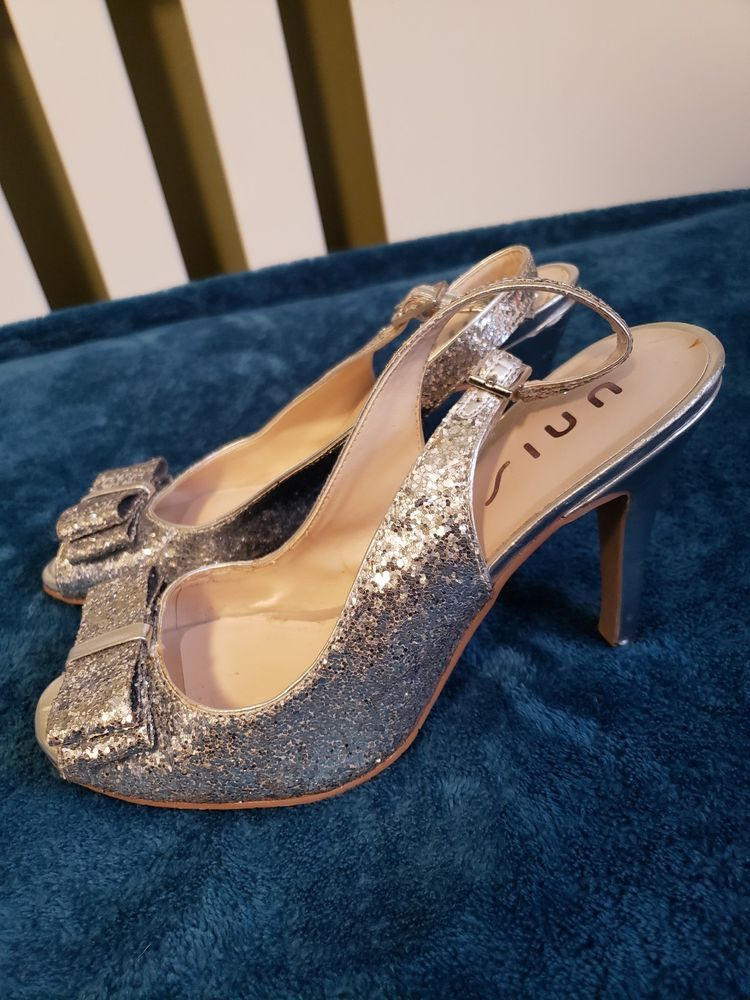 d7e39806260 Silver Glitter Heels Size 9  fashion  clothing  shoes  accessories   womensshoes  heels (ebay link)