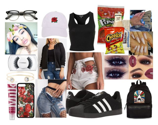 """Snack Monster"" by xx-un-dimpled-xx ❤ liked on Polyvore featuring MILK MAKEUP, Armitage Avenue, Yves Saint Laurent, Topshop, Sole Society, Charlotte Russe, MAC Cosmetics, adidas, Dolce&Gabbana and plus size clothing"