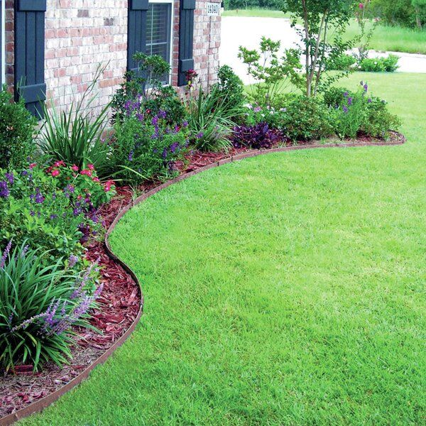 4 in. H x 240 in. W Ceder and Brow Premium Lawn Edging