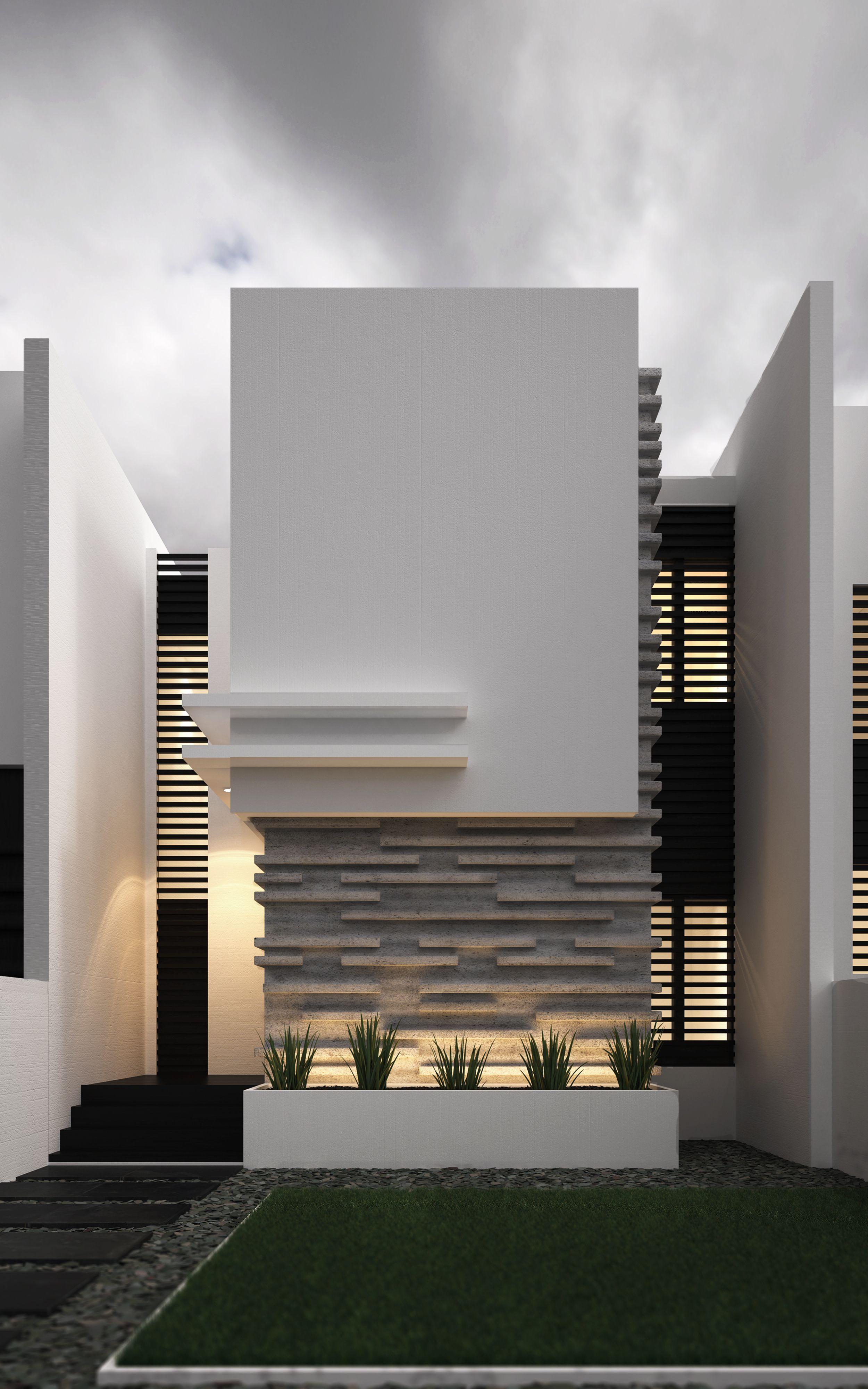 Sensacional cuadrada y minimalista fachadas for Acabados fachadas minimalistas
