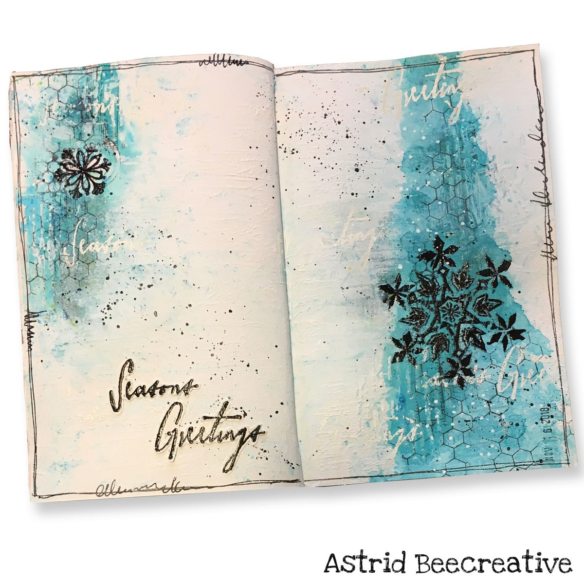 Art Journal Page Mixed Media Season S Greetings By Astrid
