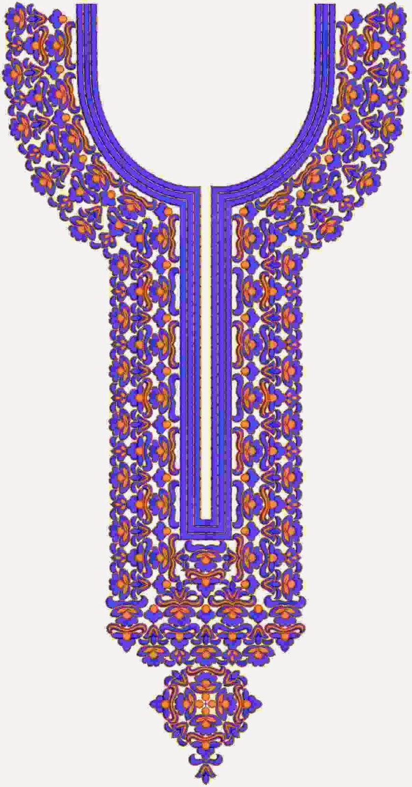 Modern creations of neck yoke pattern designs embdesigntube