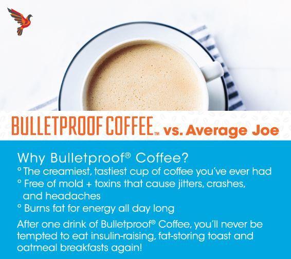 Infographic: Bulletproof Coffee vs. Average Joe [Plus a Special Discount] | Bulletproof