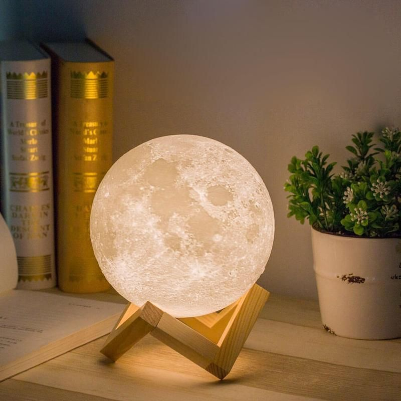 3d Lunar Moon Light Lamp Lumodecor With Images Moon Light Lamp Moon Nightlight Night Light