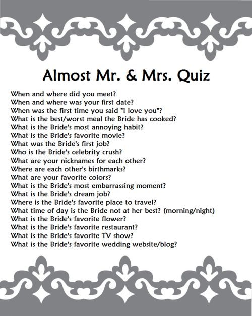 Almost Mr Mrs Quiz Do This For The Bride Then Switch