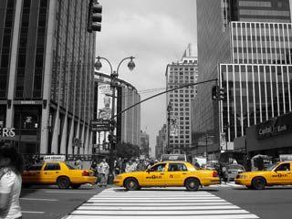 schwarz weiss foto mit farbeffekt  york gedruckt auf