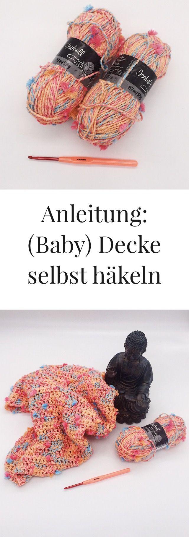 DIY Häkelanleitung - (Baby)decke für Anfänger | Häkeln anfänger ...
