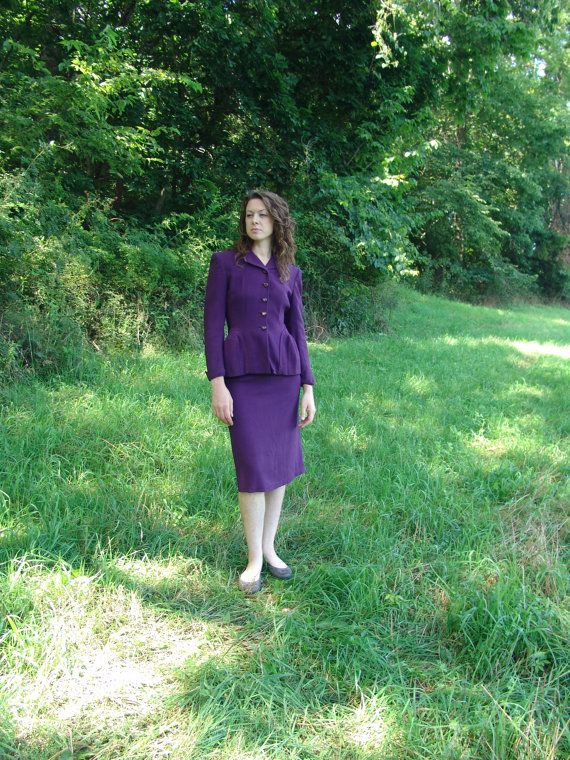 S 40's Purple Suit Vintage  Foster's by SerendipityCircus on Etsy