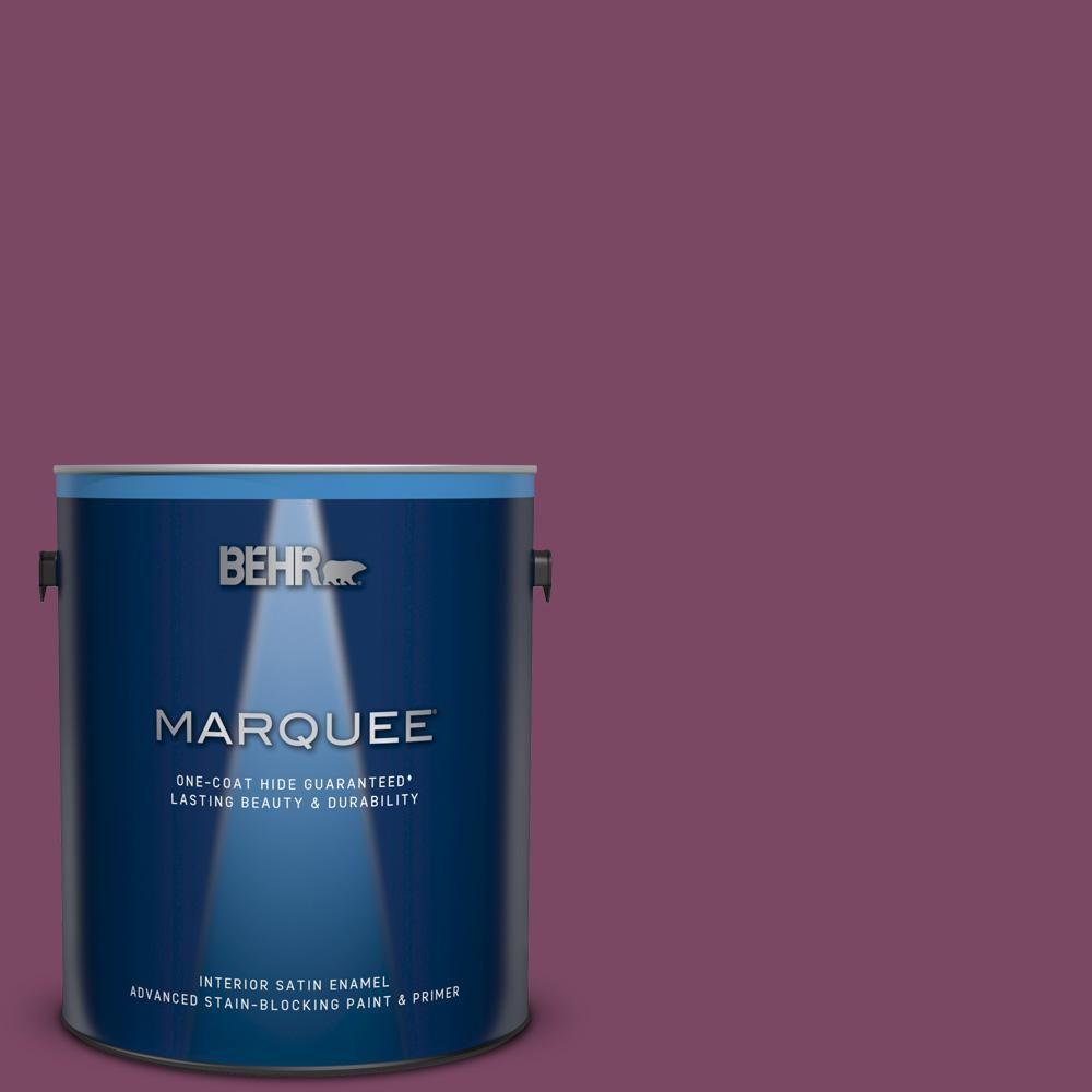 Behr Marquee 1 Gal Ppu1 19 Classic Berry Satin Enamel Interior