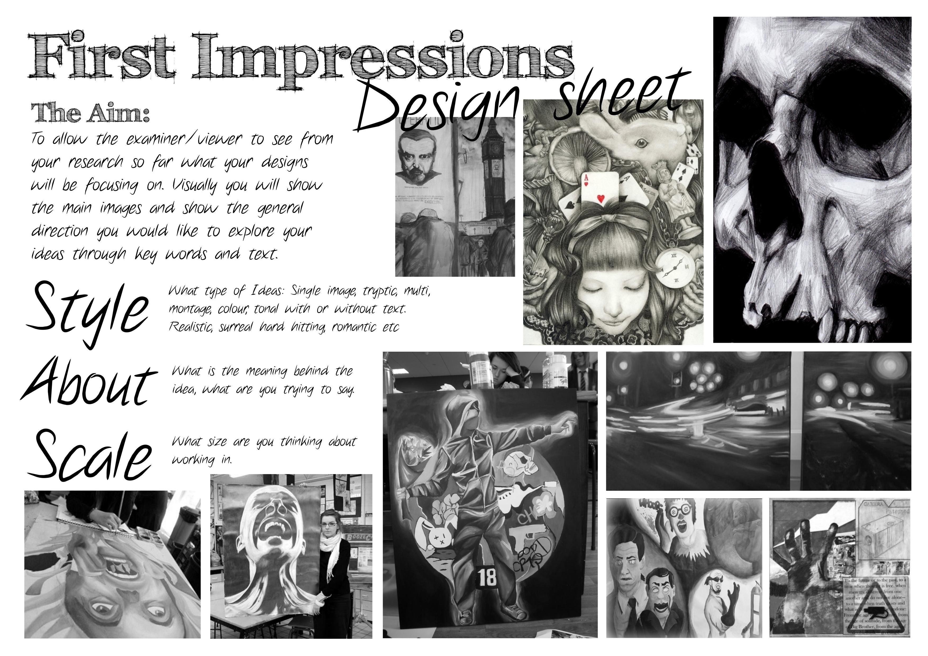 Ks4 First Impression Sheet
