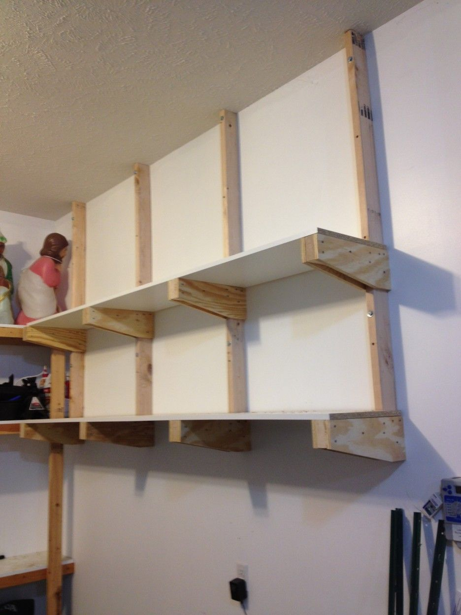 Small Wooden Garage Shelves Furniture Design Ideas In Two Lines