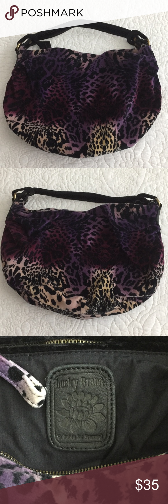 d9e4deb094 Lucky Brand Rainbow Cheetah Hobo Bag Super cute bag!! Pet smoke free. Lucky  Brand Bags Hobos