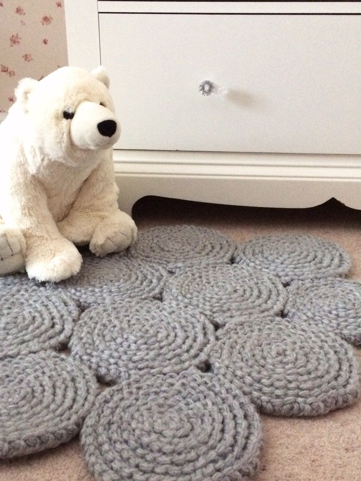 Grey Bedroom Rug Modern Nursery