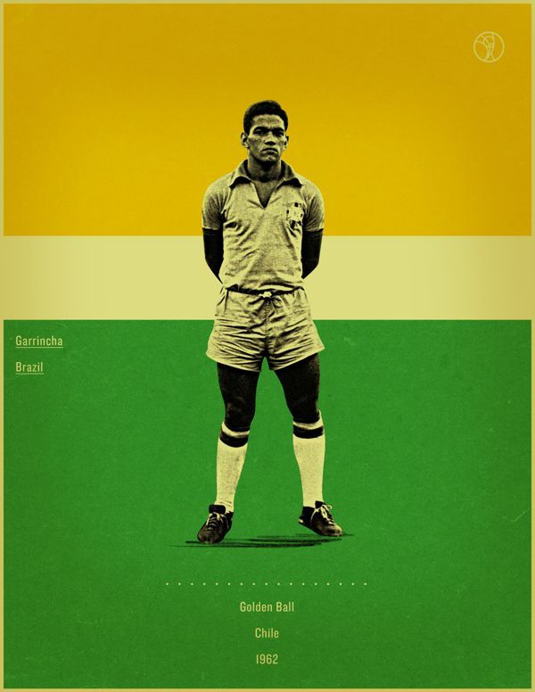 Retro Style Poster Series Of The World Cup Golden Ball Winners World Football World Cup Soccer Academy