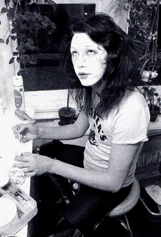 Ace Frehley Of Kiss Applying His Makeup Backstage Ace Frehley