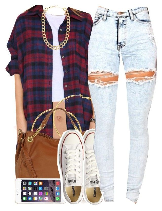 """""""February 26, 2015"""" by christina001 ❤ liked on Polyvore featuring Melissa Odabash, Michael Kors, Converse and BaubleBar"""