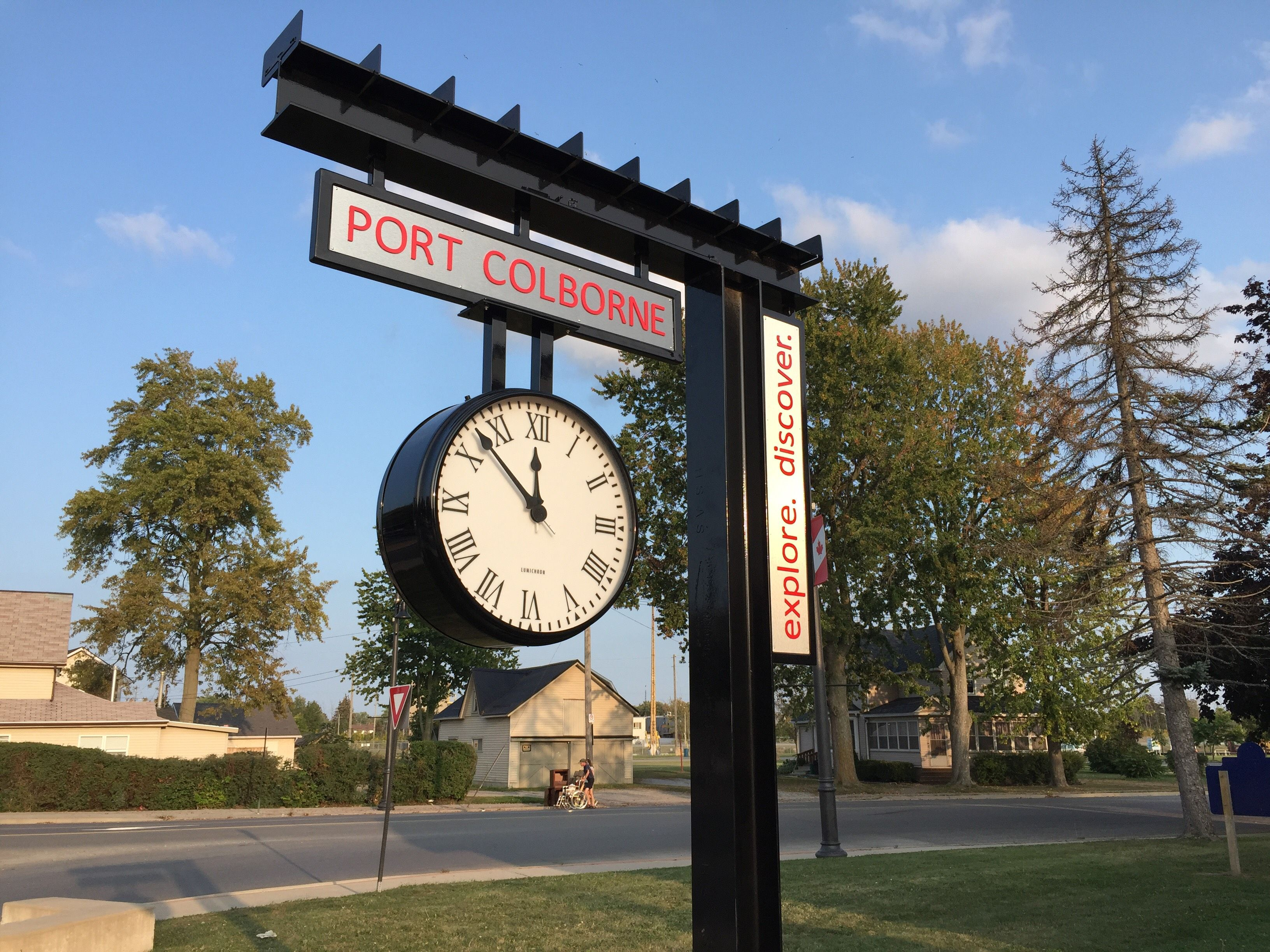 Port Colborne, Ontario, Canada Train Station Clock by