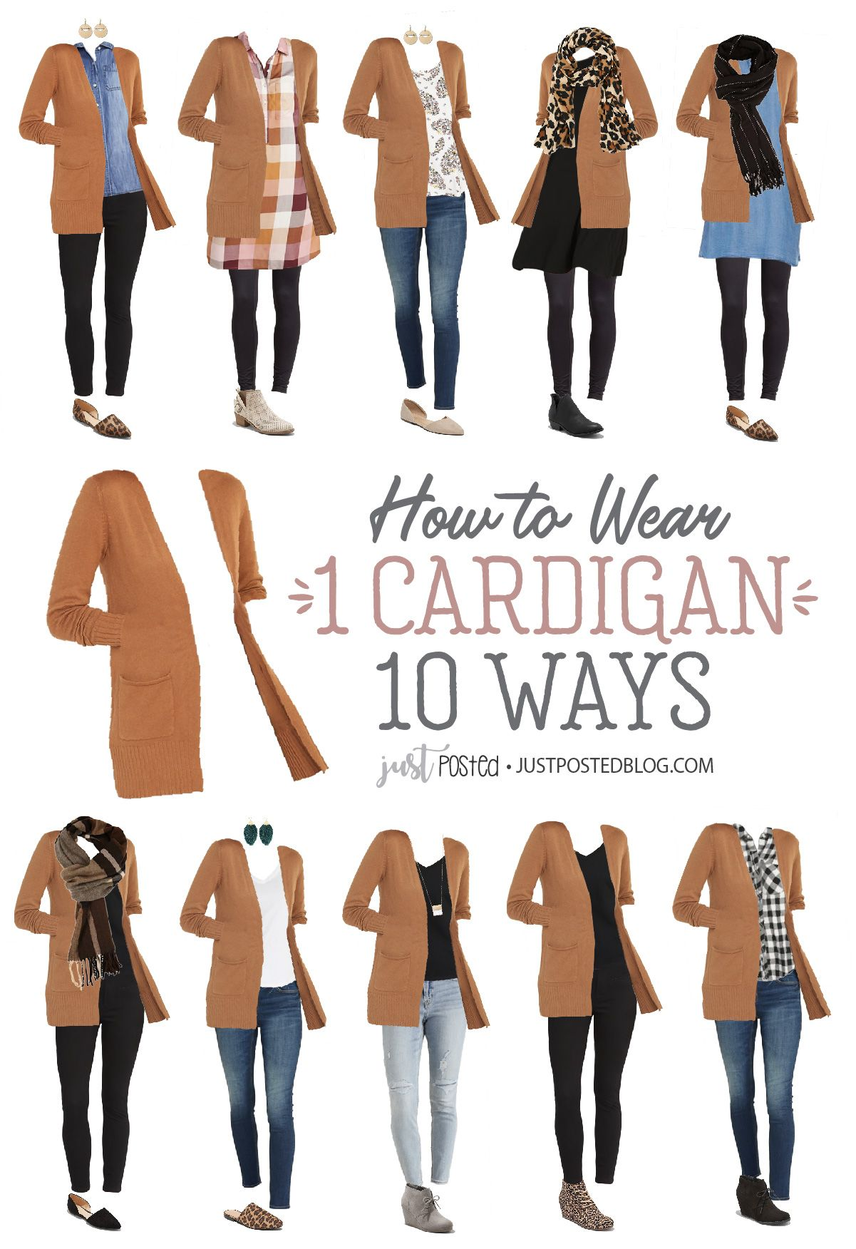 How to Wear and Style 1 Cardigan 10 Different Ways: Each Look Under $100
