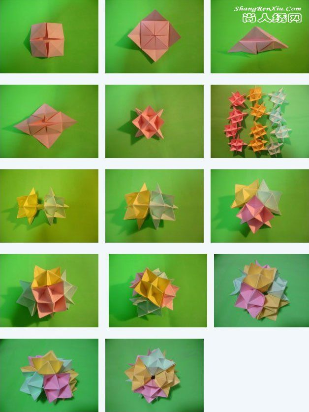 Origami Kusudama Flower Folding Instructions - How to make an ... | 837x628