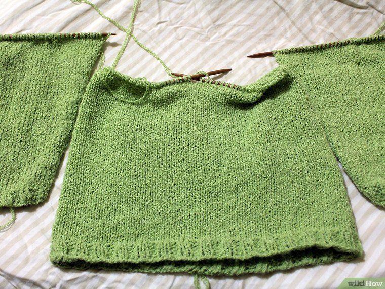 tejer pasosChaquetita de un manga ranglan12 suéter Cómo cTKF3Jl1