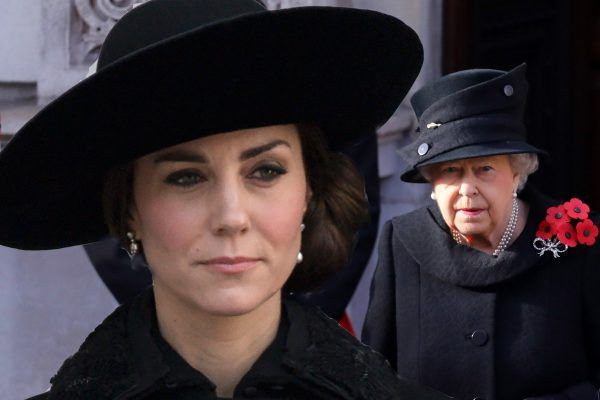 Duchess of Cambridge joined the Queen, Prince Phillip, Prince William and Prince Harry at the Remembrance Sunday service.