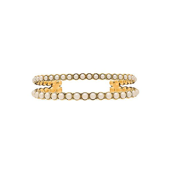 Marc Jacobs Pearl Double Cuff (425 BRL) ❤ liked on Polyvore featuring jewelry, bracelets, adjustable bangle, cuff jewelry, marc jacobs, marc jacobs bangle and marc jacobs jewelry