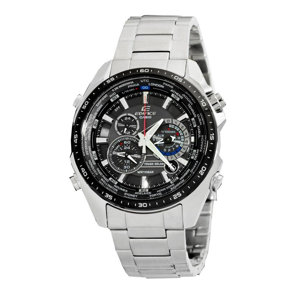 $174.00  #Casio #Watches      Tough solar powered; World time      1/100 second chronograph; Alarm; Full auto calendar      Case diameter: 45.80mm