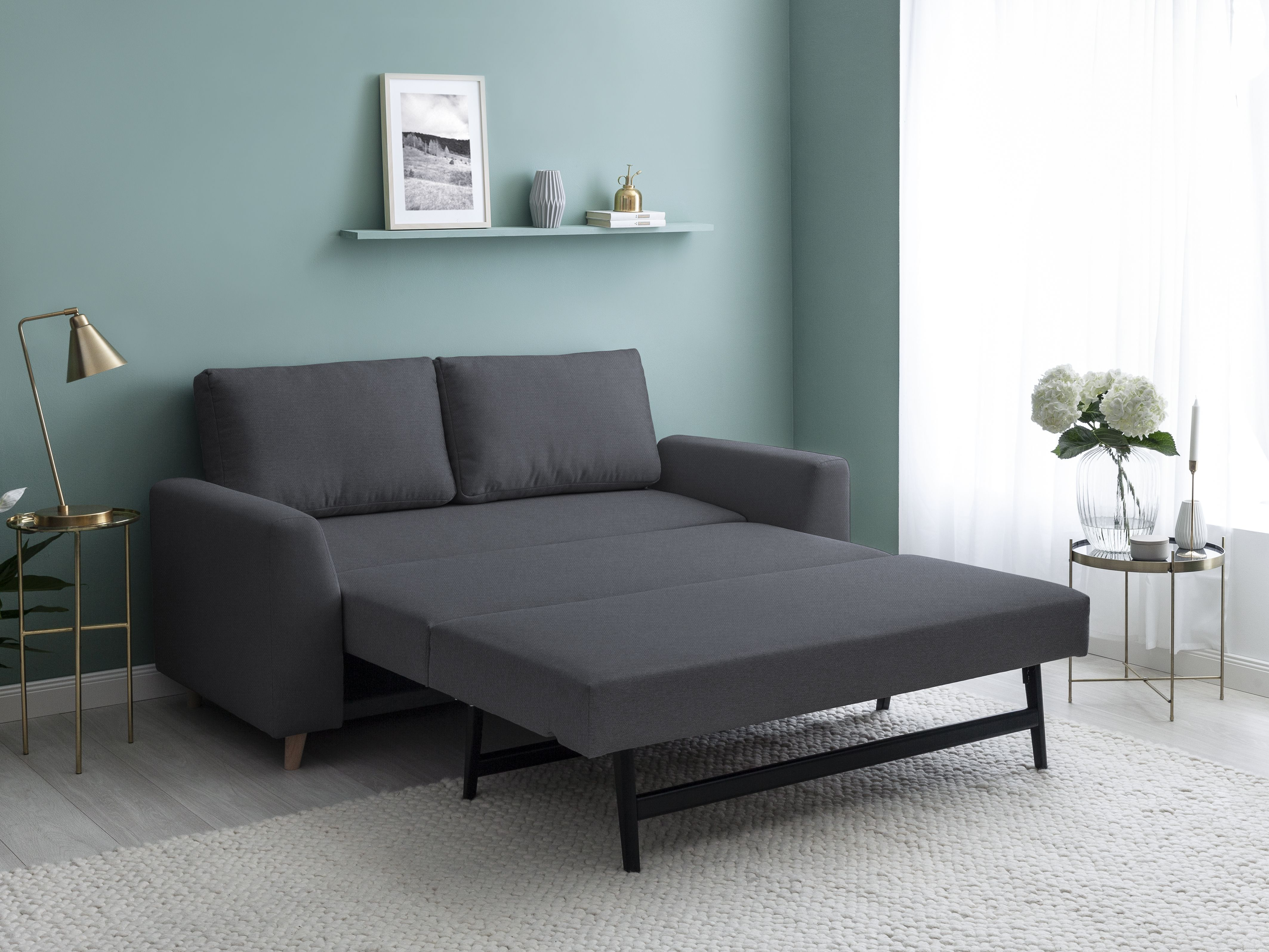 Bruno Schlafsofa In Anthrazit Schlafsofa Sofa Sofa Design