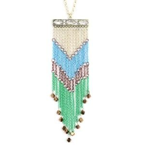 Chevron Fringe Necklace