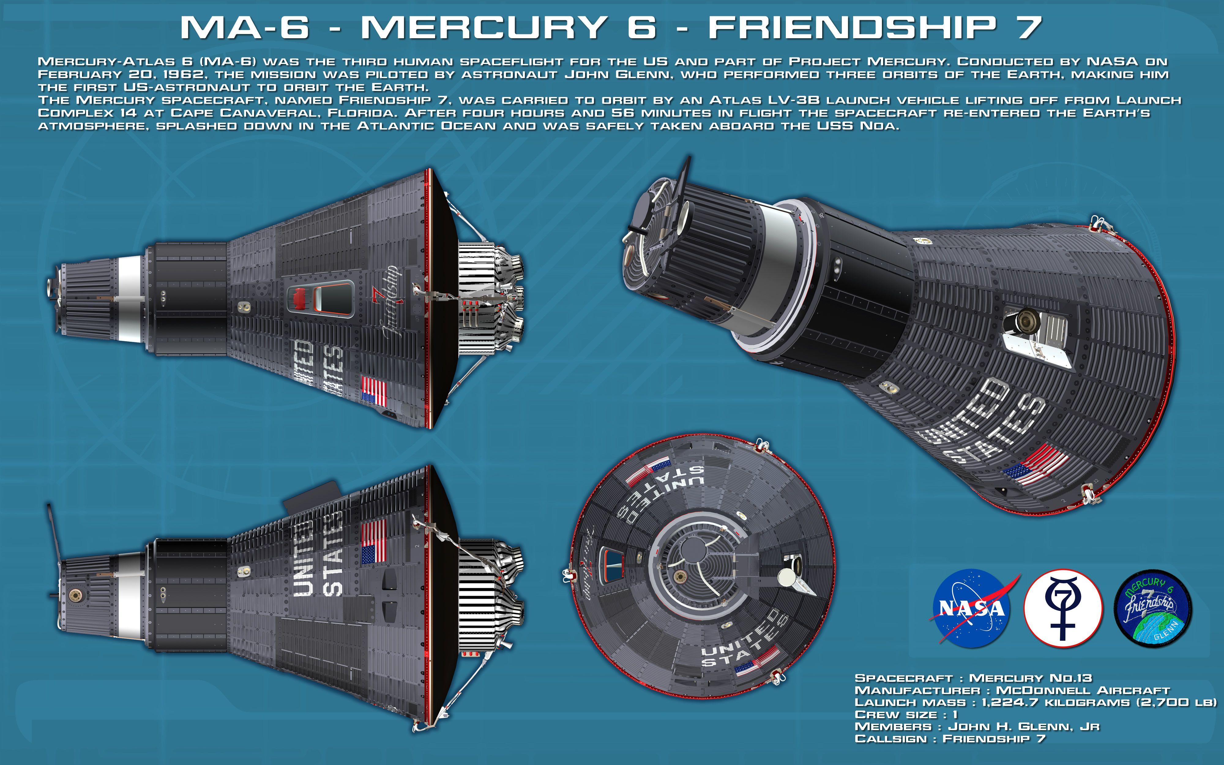 Mercury-Atlas MA-6 (Friendship 7) - CCAFS - 20.2.1962 5df4baa75899b97be2592a35056752e1