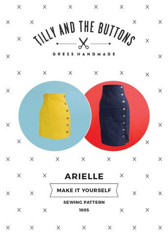 Women\'s Pencil Skirt Sewing Pattern for the Arielle Printed Skirt ...