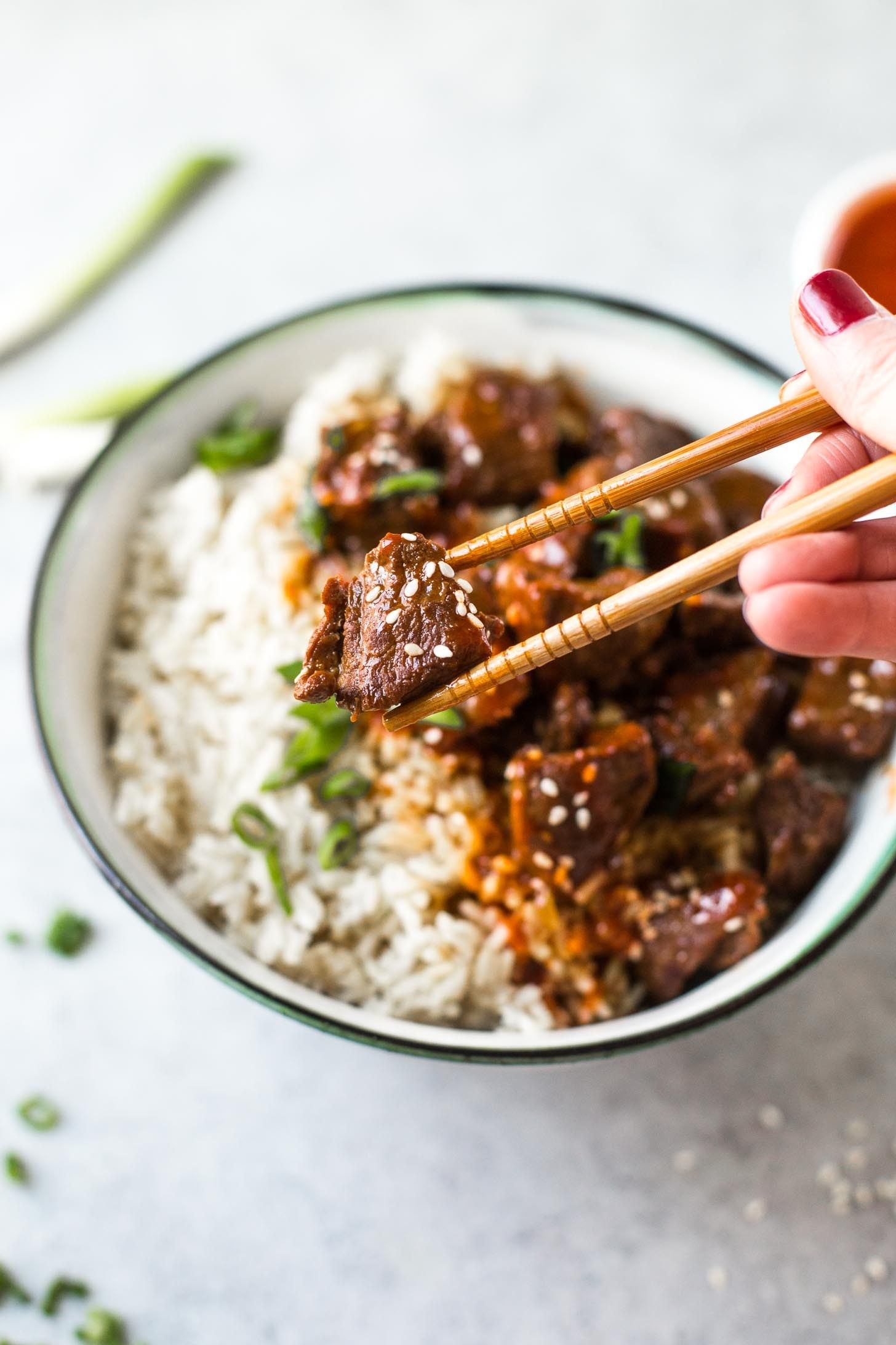 Instant Pot Korean Beef and Brown Rice images